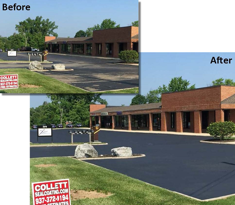 Collett Sealcoating before and after image